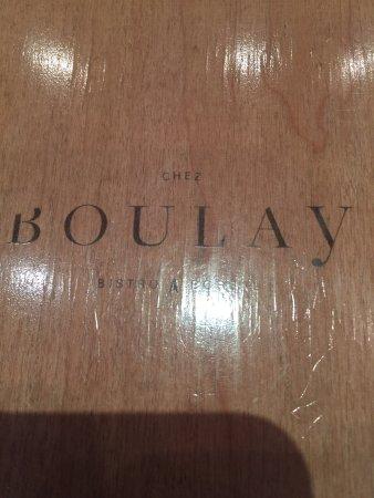 Chez Boulay-bistro boréal : menu