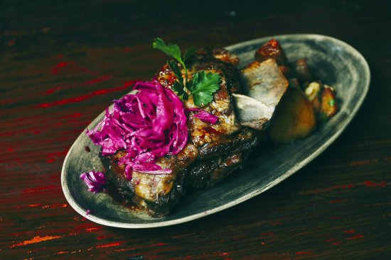 Berry, Australien: roasted pomegranate lamb
