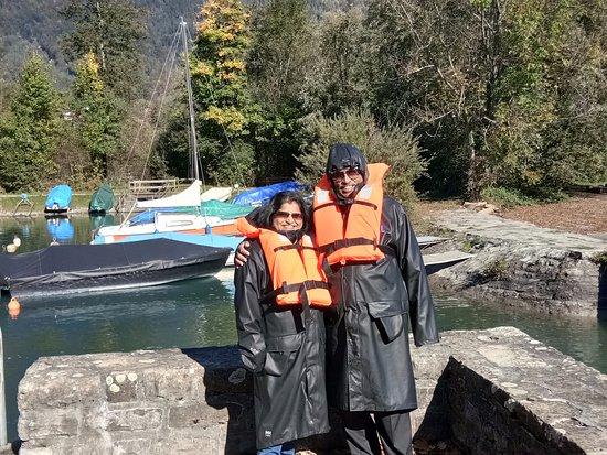 Jet Boat Interlaken: In safety attire