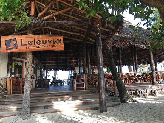 Leleuvia Island, Fiji: Central facility for dining and reception
