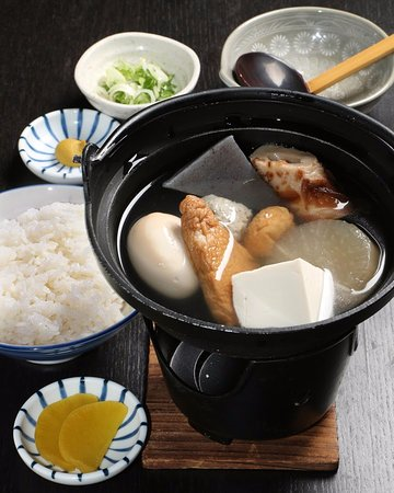Nagaokakyo, اليابان: 京風おでんとご飯セット