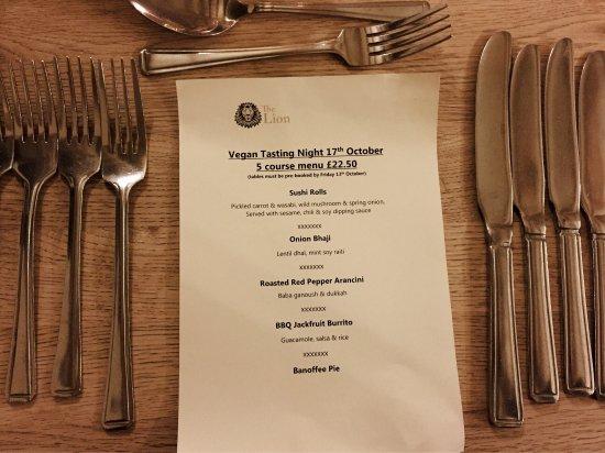 Leavenheath, UK: Vegan taster evening food October '17
