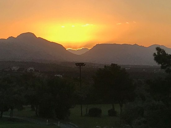 Esentepe, Cyprus: Beautiful sunset from clubhouse