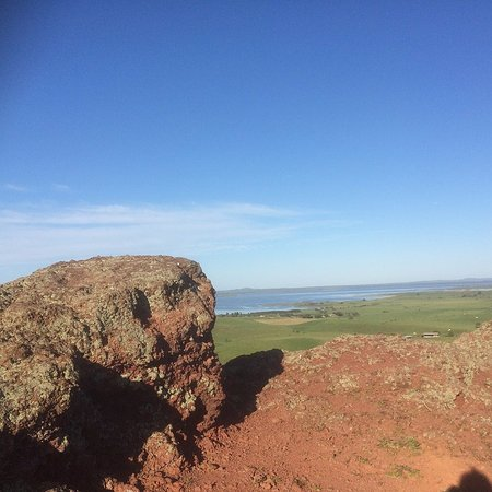 Colac, Australia: The Red Rock At The Top Of The Hill