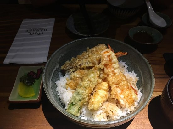 Tempura don picture of hanare authentic japanese cuisine for Authentic japanese cuisine