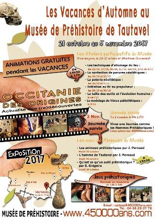 Tautavel, Francia: Vacances d'automne 2017 au Musée