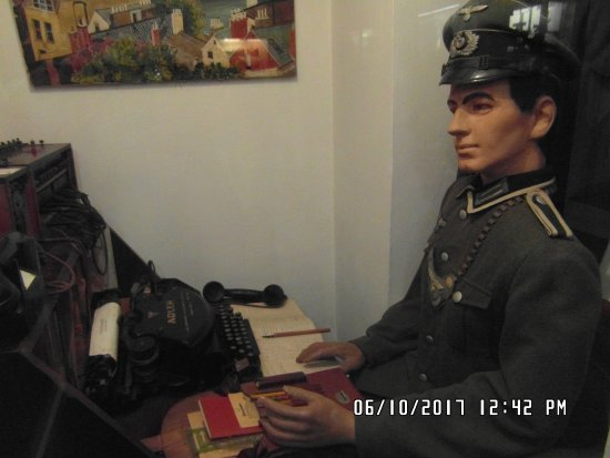 German Occupation Museum: Telephone Switchboard and operator