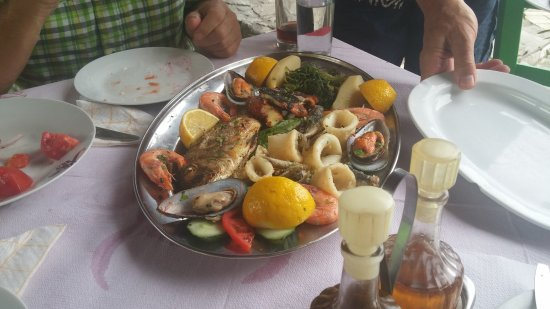 Sougia, Hellas: Fischplatte
