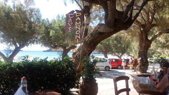 Plakias, Grecia: View from Damnoni taverna