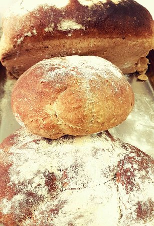 Markinch, UK: Three home-made breads