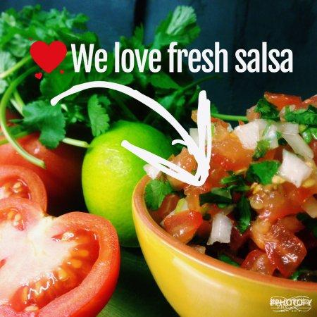 Bishops Stortford, UK: Freshly made Salsa
