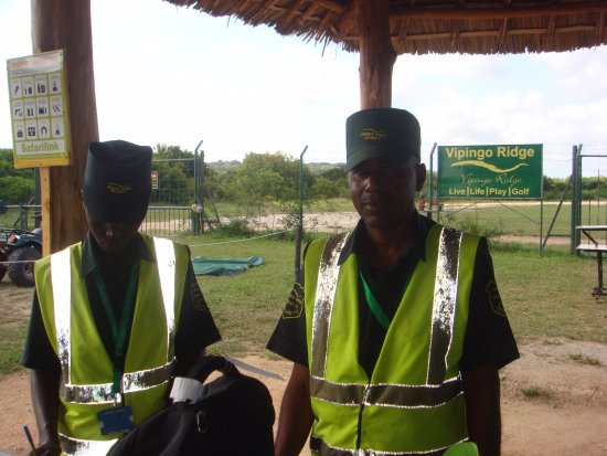Aviation security taken very seriously at Vipingo Ridge ... thumbs up for their thorough check!