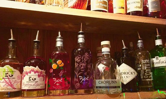 Markinch, UK: Some of our gins