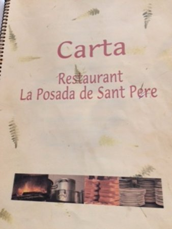 Sant Pere Molanta, Spain: Capa do cardápio