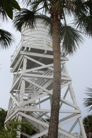 Captain Randys Fishy Business: Cabbage Key water tower(it has a stairway you can climb for a 360 view of the Island)