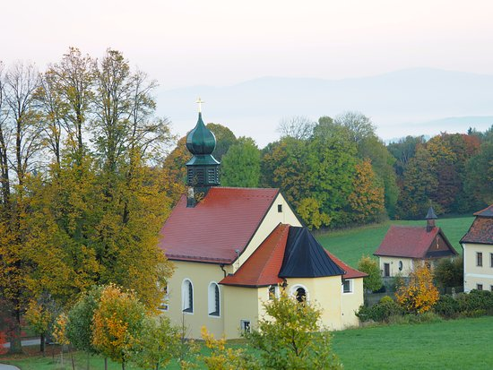Waldmunchen, Germania: Aussicht an einem Morgen im Herbst