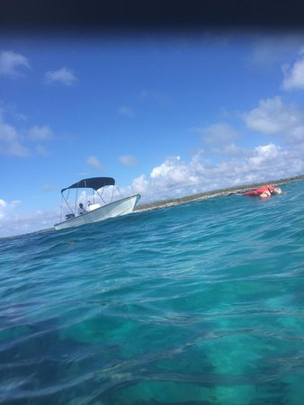 Blue Hole Watersports : Our boat and view