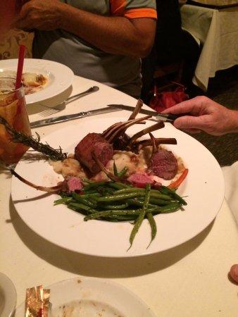 Rosa's Italian Restaurant : My husband enjoyed his rack of lamb.