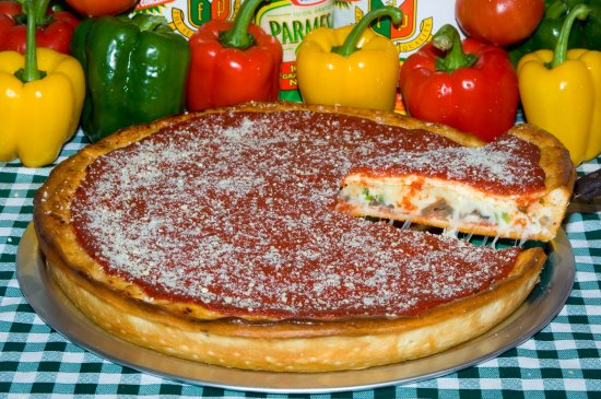 "Chesterfield, MI: Our Famous ""Chicago Style Pizza""! It takes a little longer, but it is worth every second."