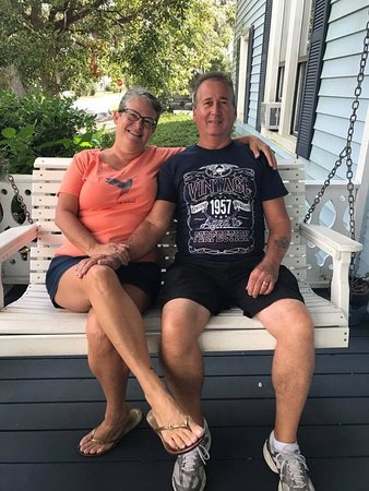 Blue Heron Inn - Amelia Island: My husband and me, relaxing on the front pourch