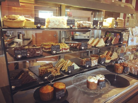 Chilwell, UK: A selection of tasty cakes