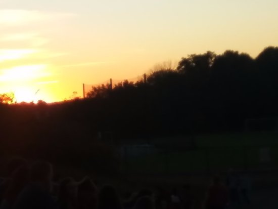 Bloomington, IN: Sunset from Armstrong Stadium.