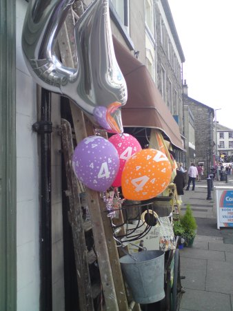 Ulverston, UK: celebrating four years at the FOURPENCE.