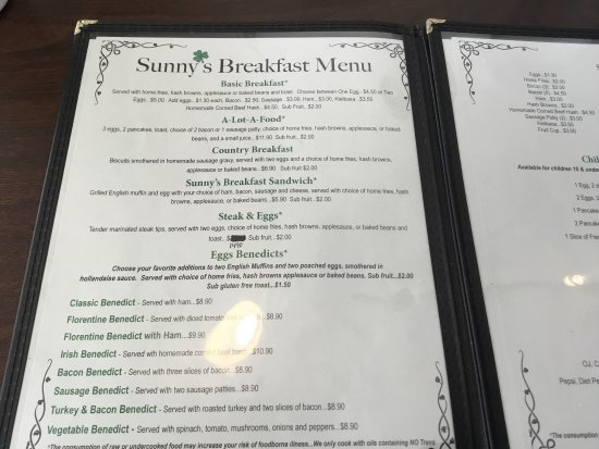 Lee, NH: Sunny's Restaurant