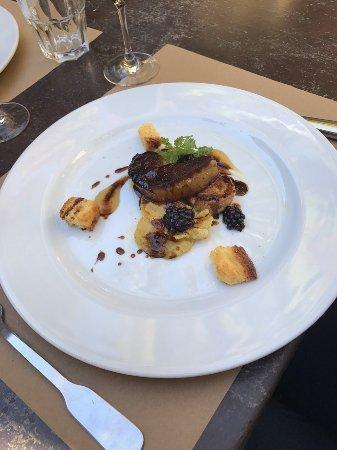 Carpentras, Fransa: Foie gras poelé