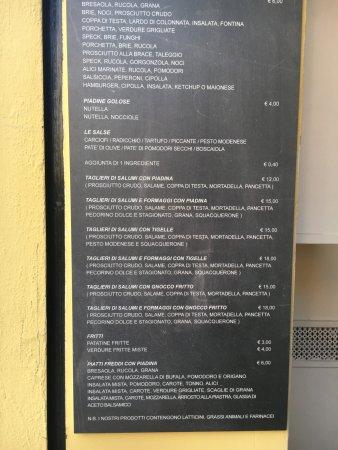 Farina del Mio Sacco: Menù.