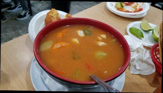 Doraville, GA: Shrimp soup, caldo camaron