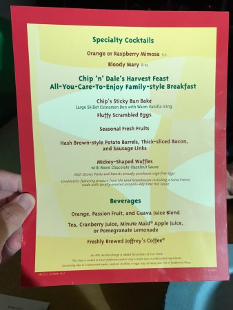 Menu Flipside - Picture of Garden Grill, Orlando - TripAdvisor