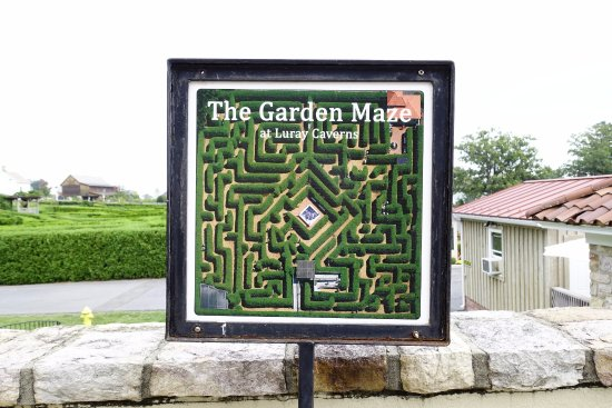 Map Of The Garden Maze Picture Of Luray Caverns Luray Tripadvisor