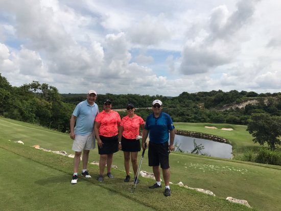 This is one of the first holes at El Delfin Golf Course in Campeche Country Club