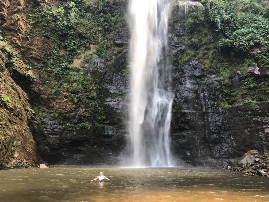 Hohoe, Ghana: Swimming in the lower falls
