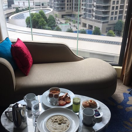 The Westin Kuala Lumpur: In-room breakfast with view