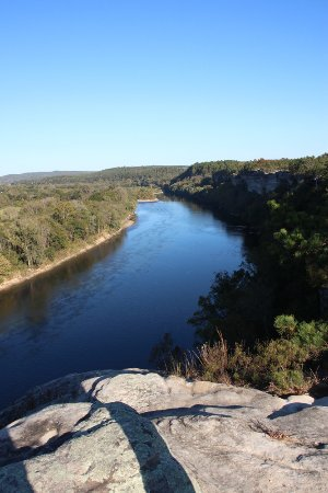 Calico Rock, AR: View from bluff to the south
