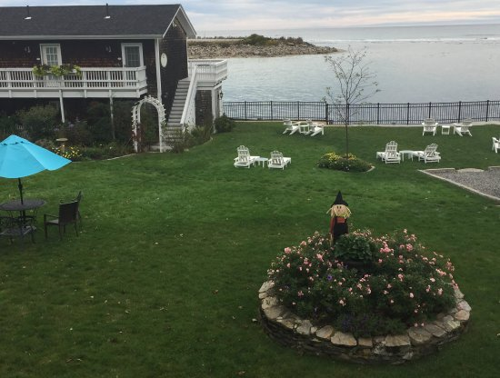 Marginal Way House: View from the porch while enjoying morning coffee