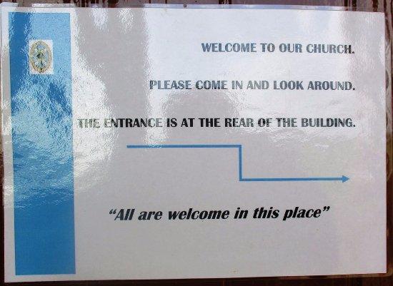 Shiskine, UK: Pa,carte de bienvenue