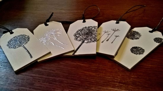 Shepton Mallet, UK: Embossing keyrings