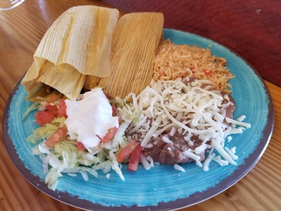 Tortilleria Garcia: Tamale Plate with Rice and beans