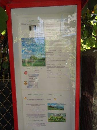 Annot, Frankrijk: carte et menus