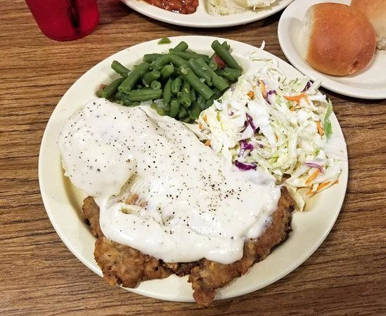 Vinita, OK: Chicken-fried steak dinner. Lots of food!