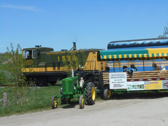 We sponsor the Elmira wagon Rides. The wagon is a people mover taking people to, and from the tr