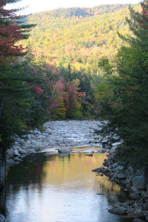 Kancamagus Highway: Lokking down the gorge from the bridge