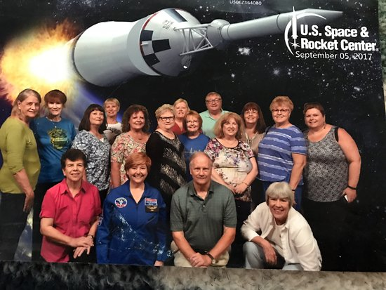 National Federation of Press Women members on the tour of the U.S. Space and Rocket Center.