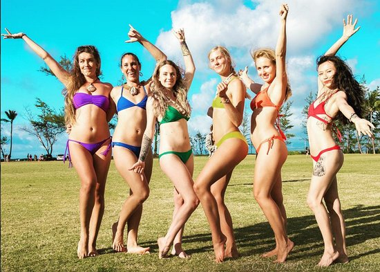Waialua, HI: The Pakaloha swimwear models!