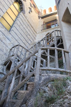 Grizzana Morandi, Italy: Most amazing details like this outdoor staircase that looks like wooden.