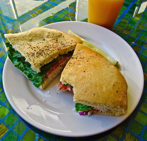 Chelsea, MI: A delicious tuna sandwich - well seasoned, sweet tomato, touch of cerey and red onion. awesome b