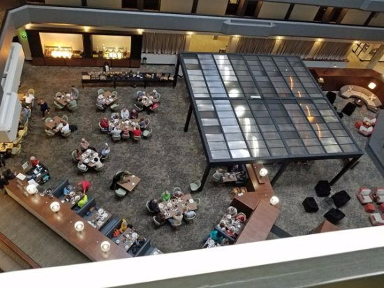 Fort Smith, AR: Looking down on the dining room and lounge area
